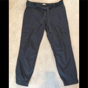 Loft gray cargo pants